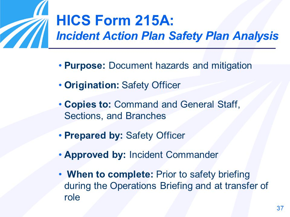 the incident action plan is prepared by general staff from