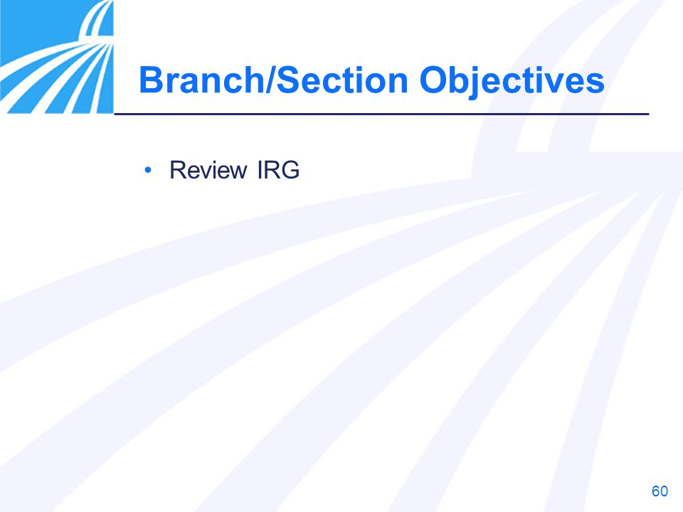 Branch/Section Objectives