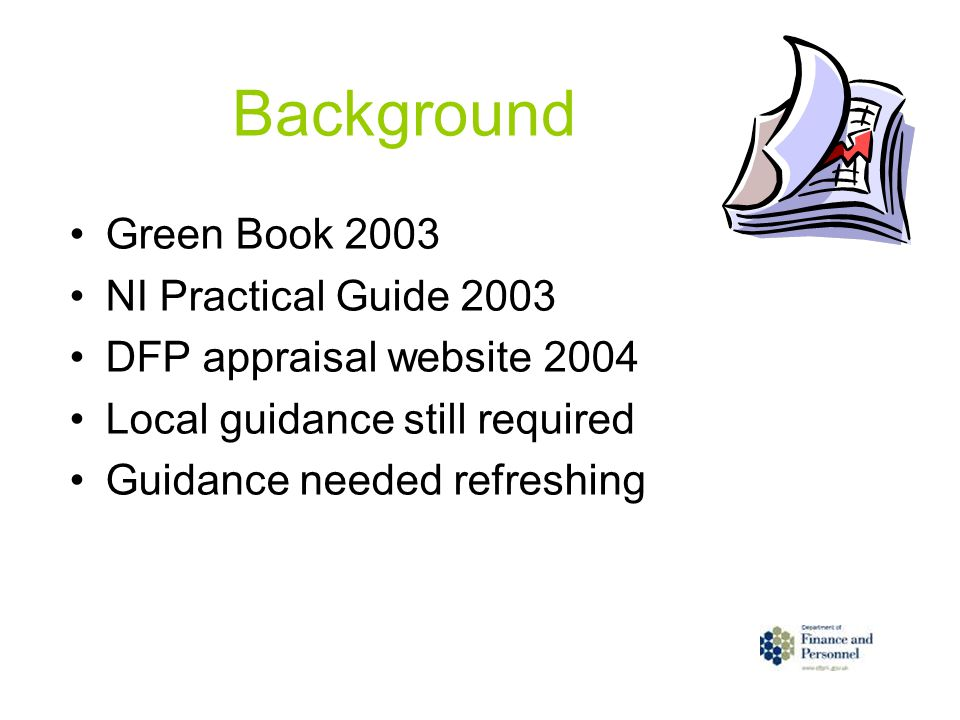 Background Green Book 2003 NI Practical Guide 2003