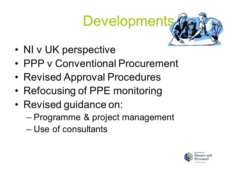 Developments NI v UK perspective PPP v Conventional Procurement