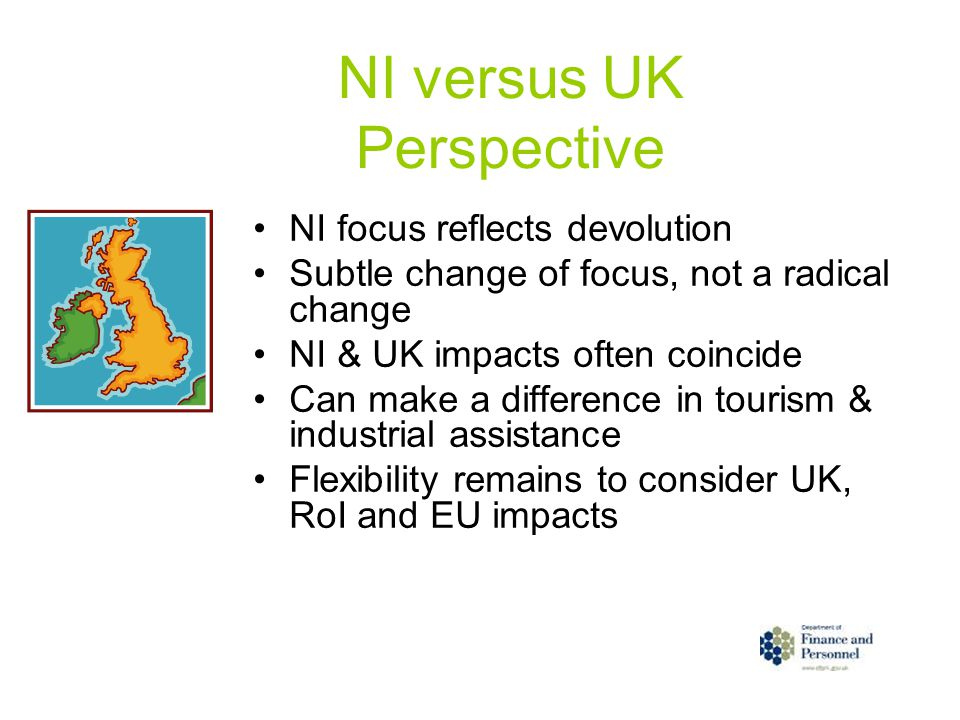 NI versus UK Perspective