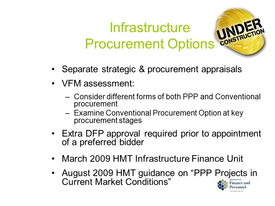Infrastructure Procurement Options