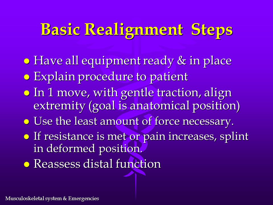 Basic Realignment Steps
