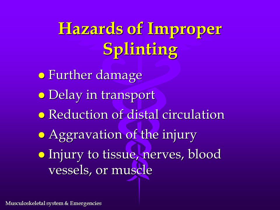 Hazards of Improper Splinting