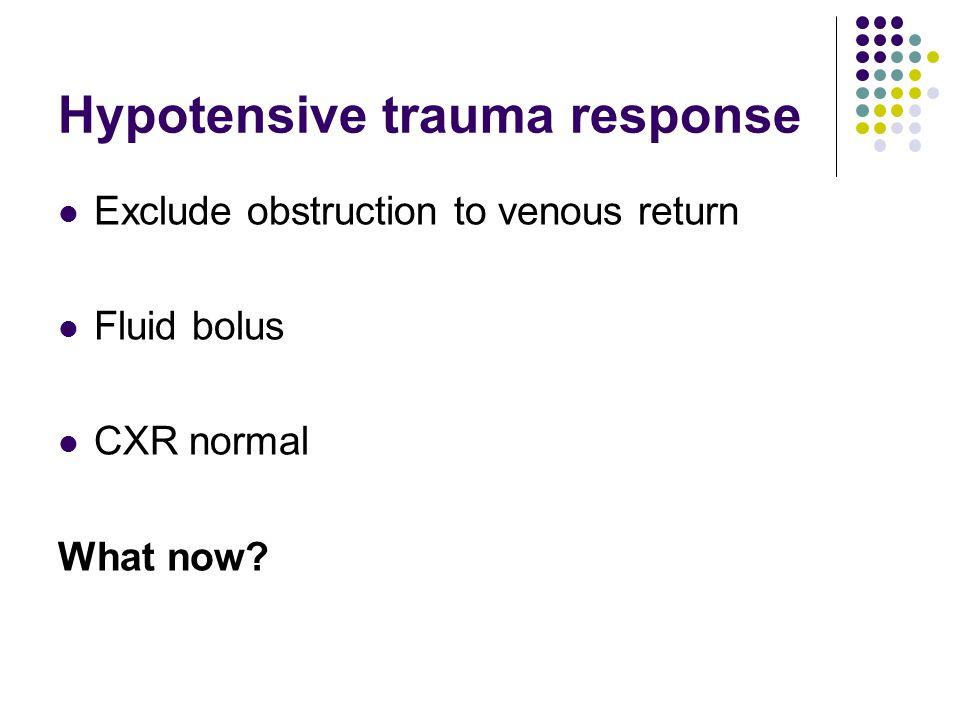 Hypotensive trauma response