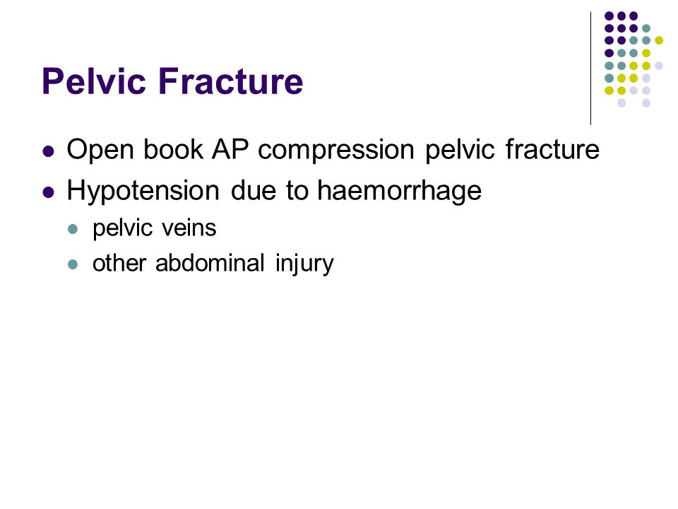 Pelvic Fracture Open book AP compression pelvic fracture
