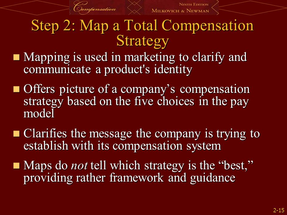 Step 2: Map a Total Compensation Strategy