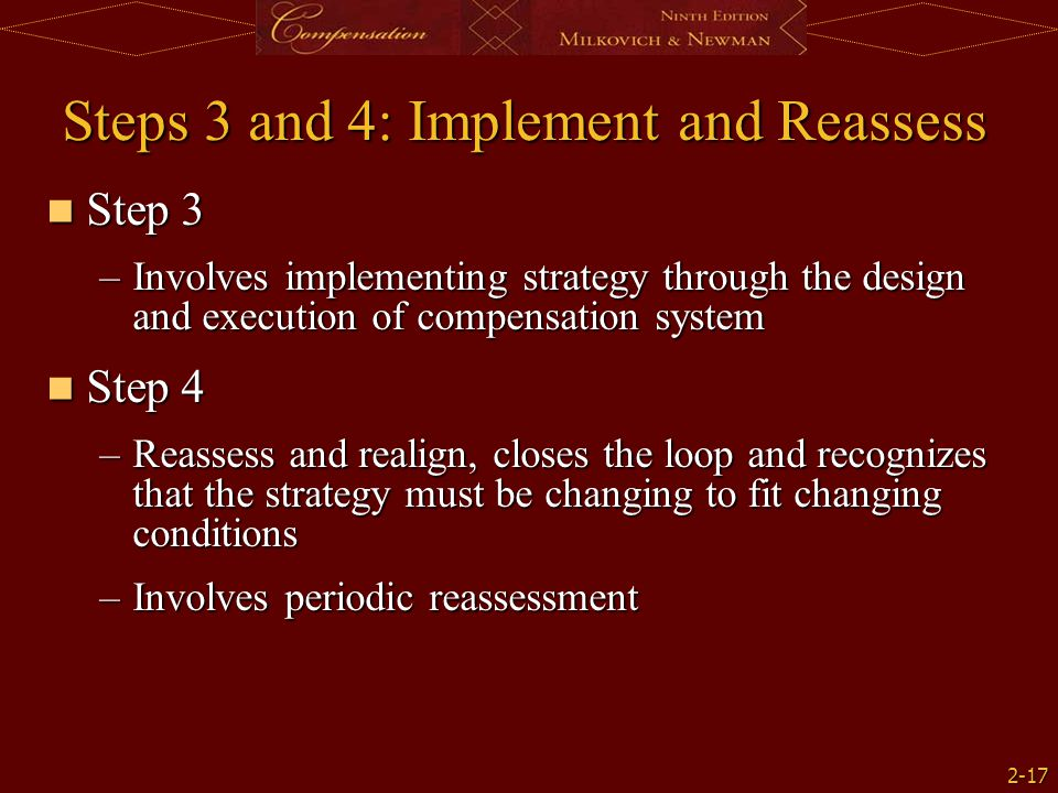 Steps 3 and 4: Implement and Reassess