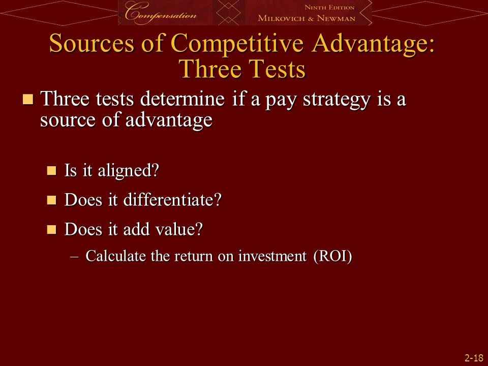 Sources of Competitive Advantage: Three Tests
