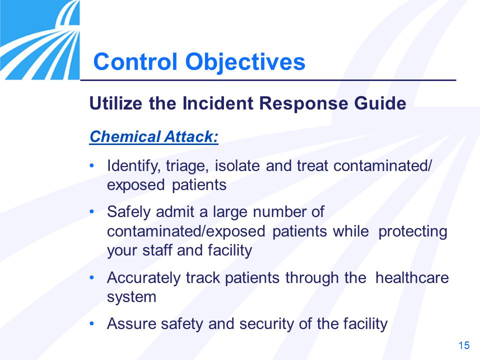 Control Objectives Utilize the Incident Response Guide