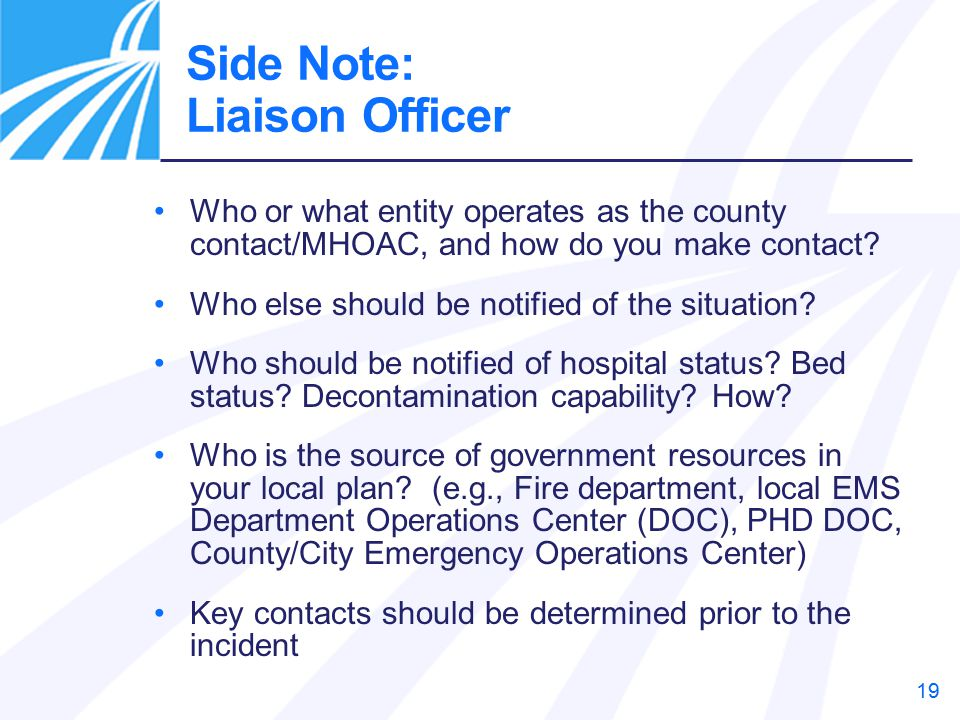 Side Note: Liaison Officer