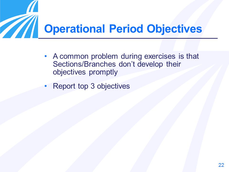 Operational Period Objectives