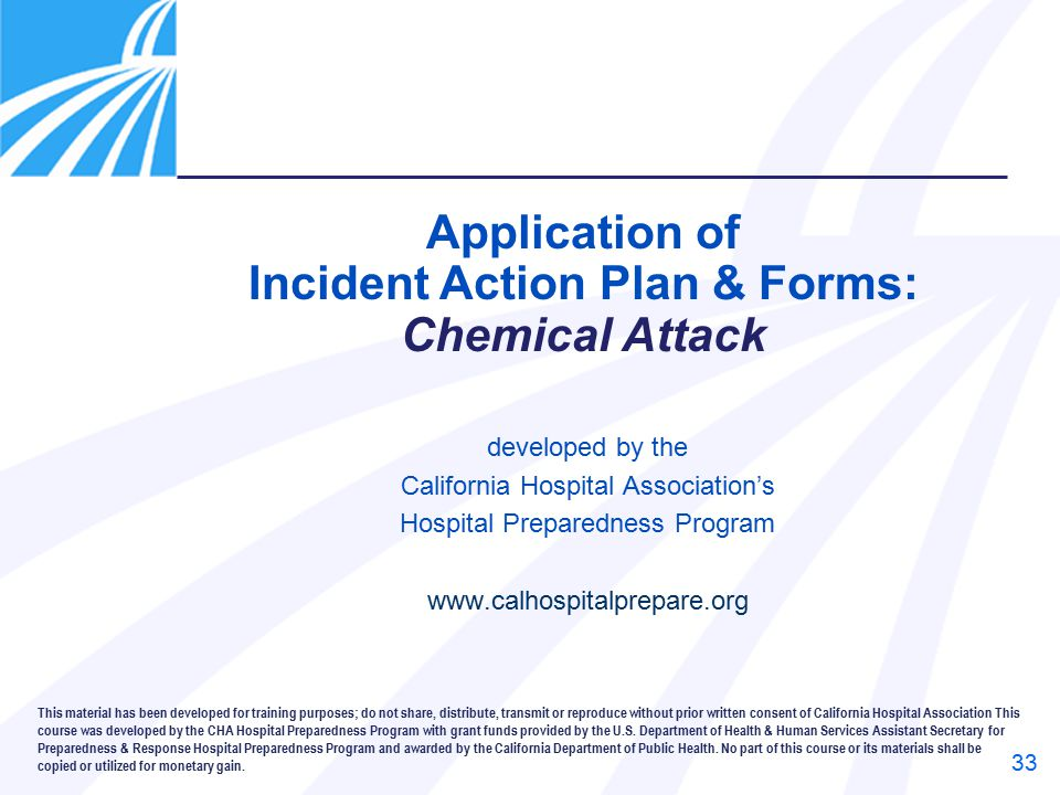 Incident Action Plan & Forms:
