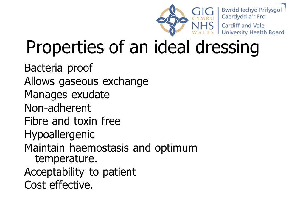 Properties of an ideal dressing