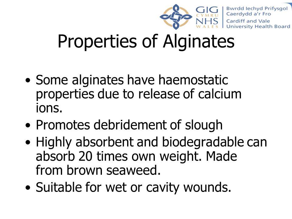 Properties of Alginates