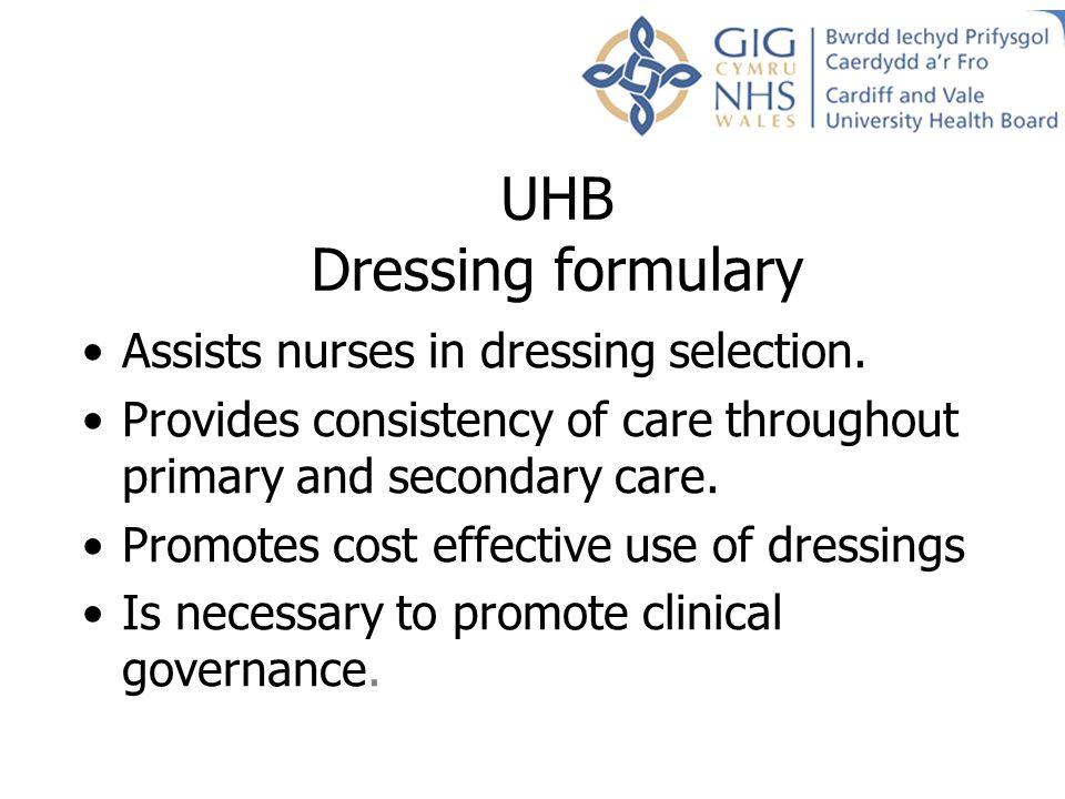 UHB Dressing formulary