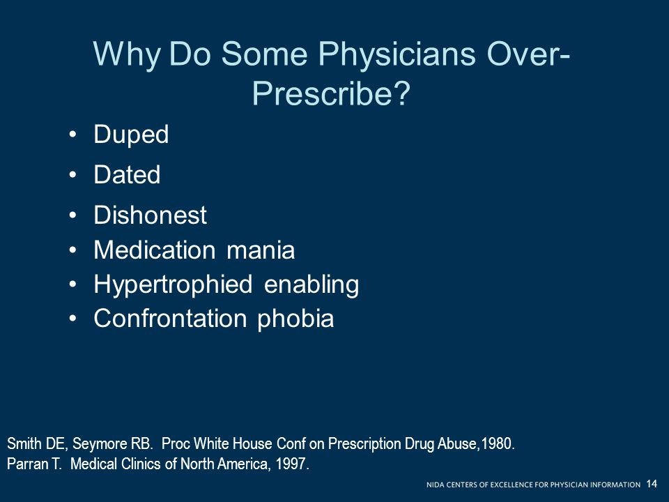 Why Do Some Physicians Over-Prescribe