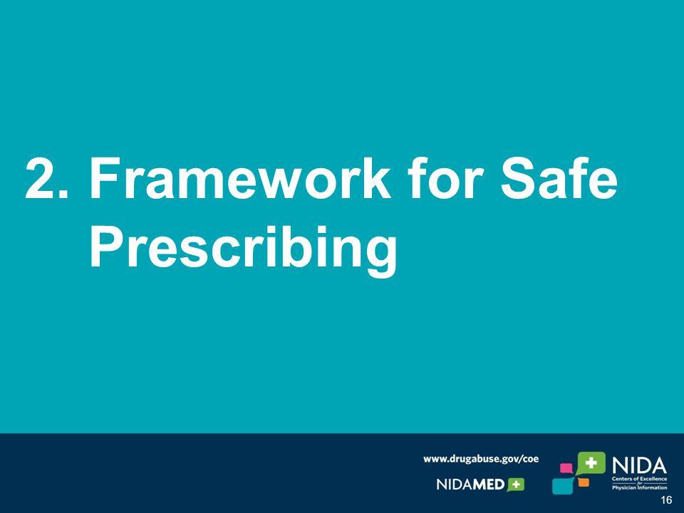 2. Framework for Safe Prescribing