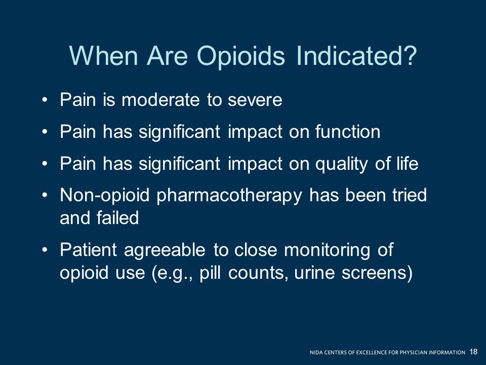 When Are Opioids Indicated