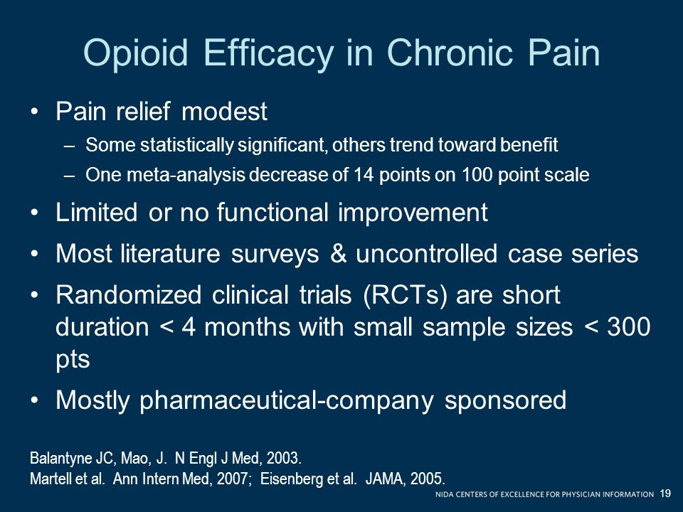 Opioid Efficacy in Chronic Pain