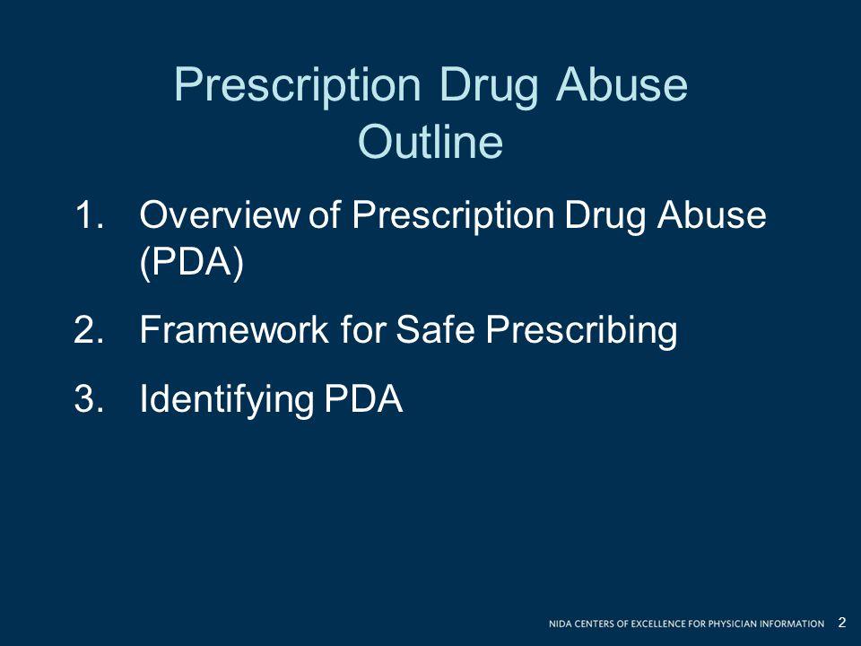 Prescription Drug Abuse Outline