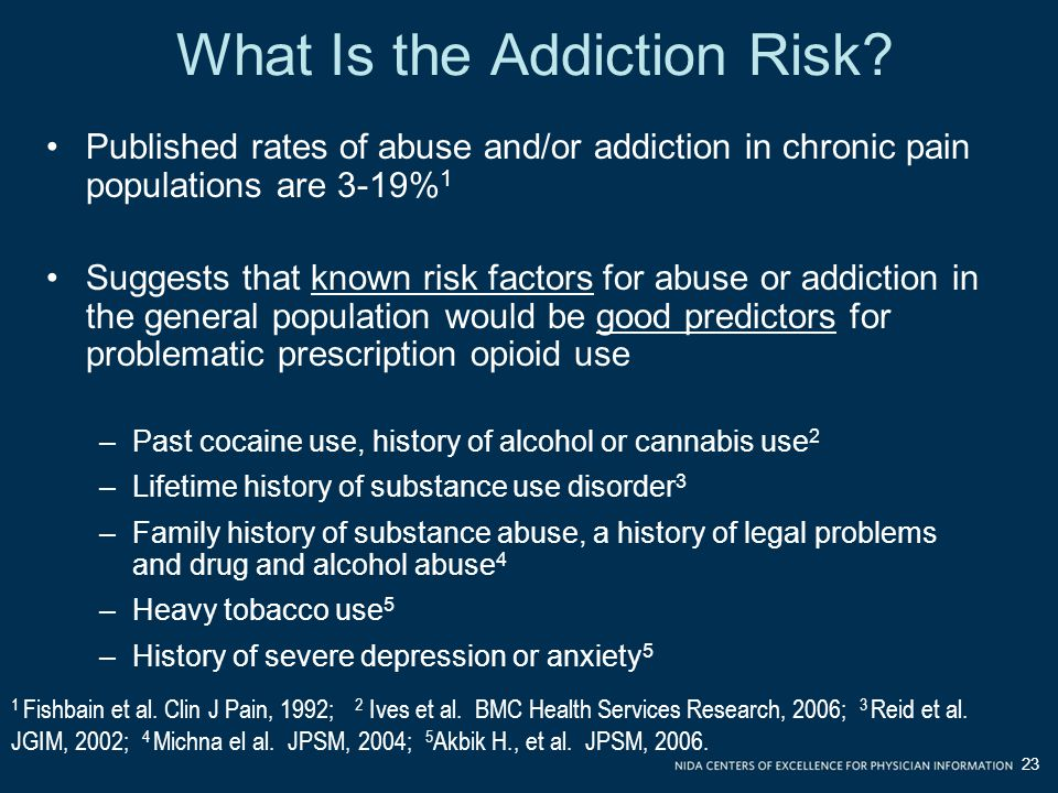 What Is the Addiction Risk