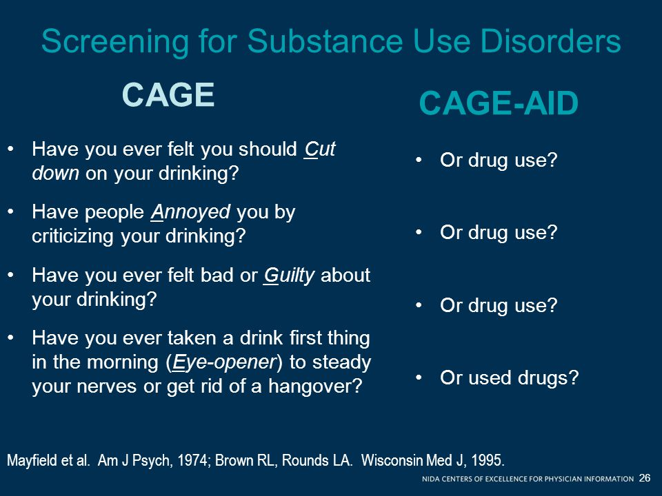 Screening for Substance Use Disorders
