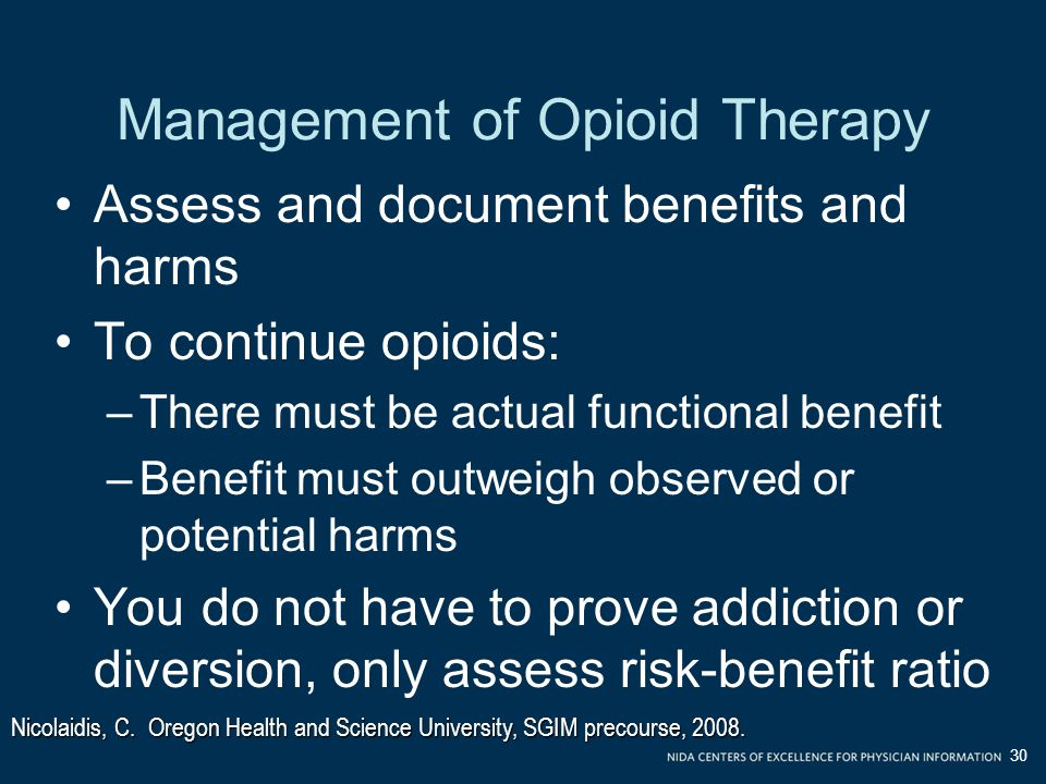 Management of Opioid Therapy