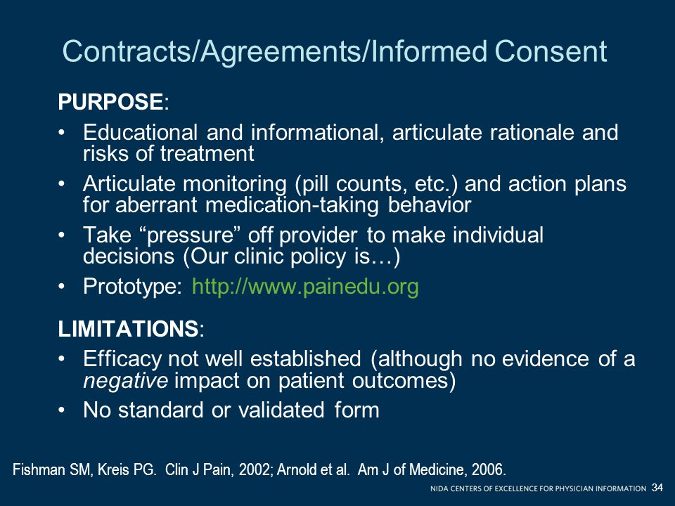 Contracts/Agreements/Informed Consent