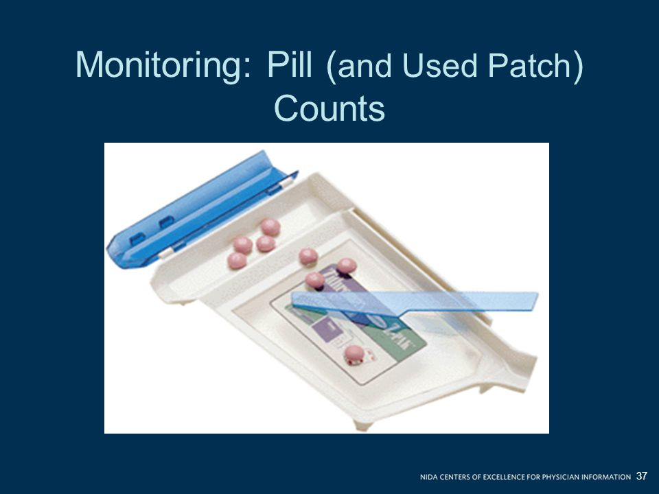 Monitoring: Pill (and Used Patch) Counts