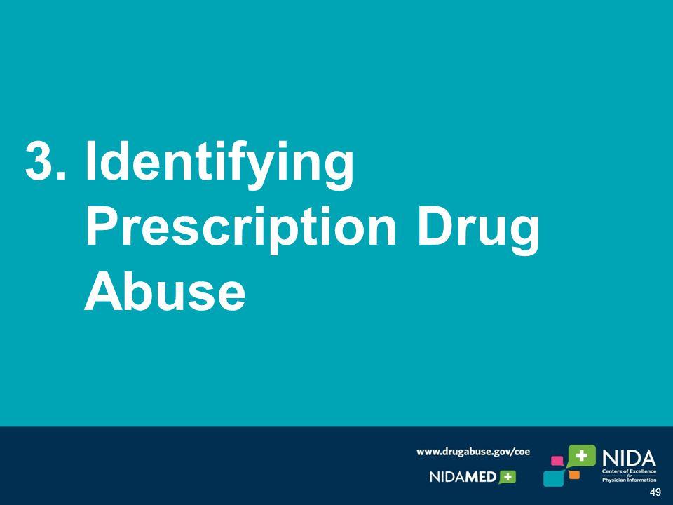 3. Identifying Prescription Drug Abuse