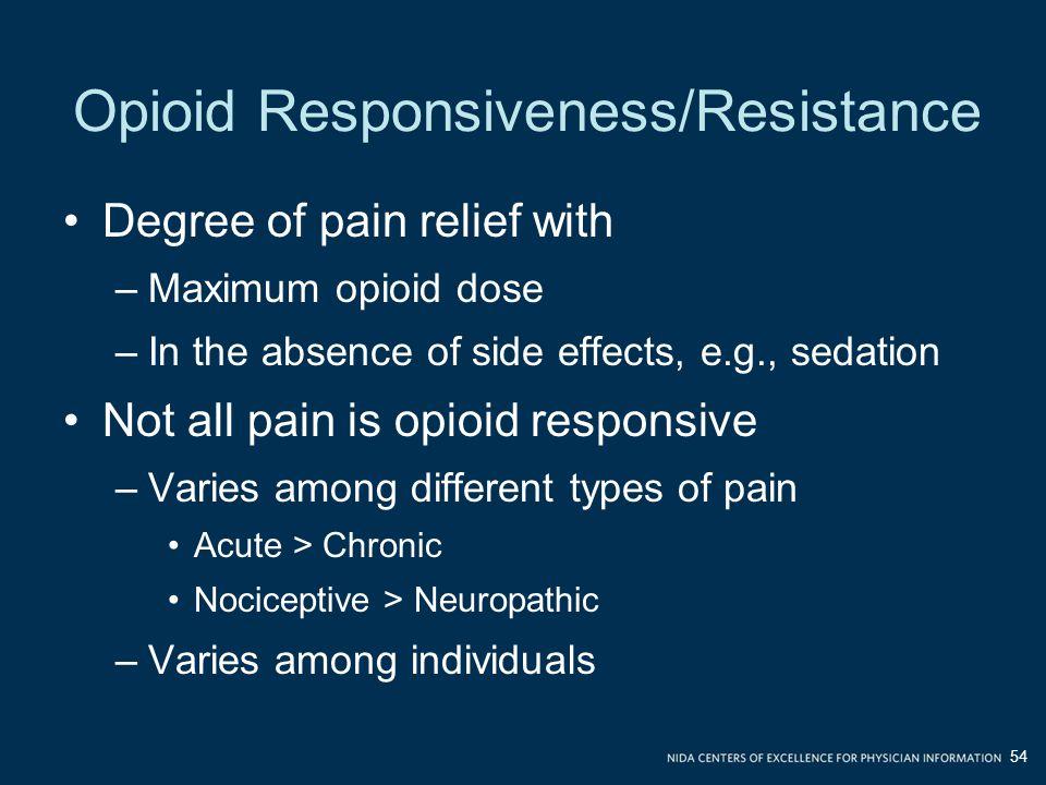 Opioid Responsiveness/Resistance