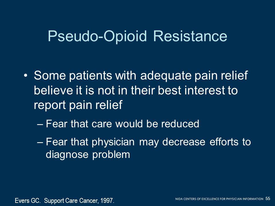 Pseudo-Opioid Resistance