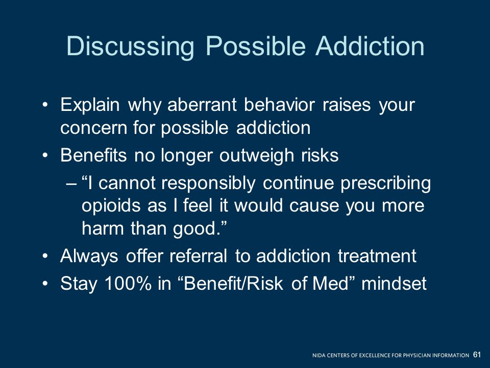 Discussing Possible Addiction