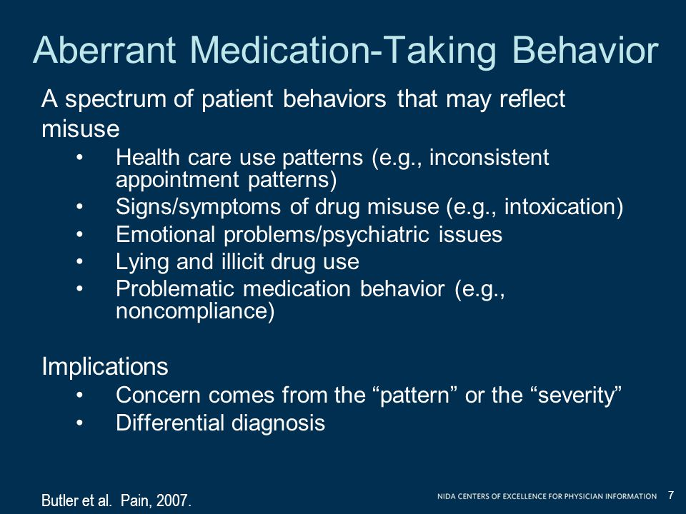 Aberrant Medication-Taking Behavior