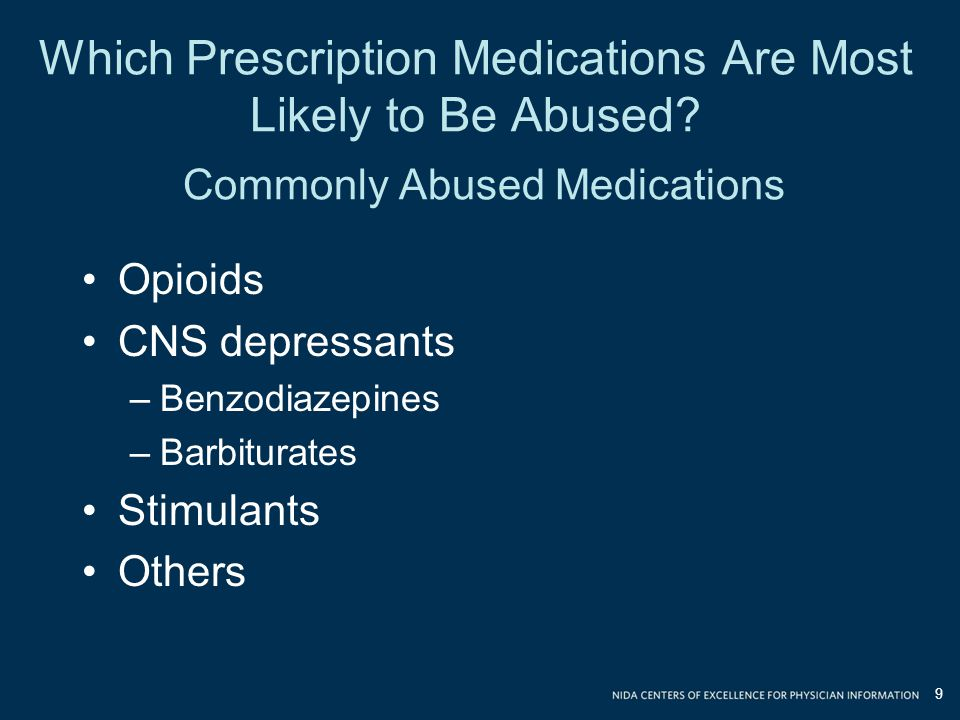 Which Prescription Medications Are Most Likely to Be Abused