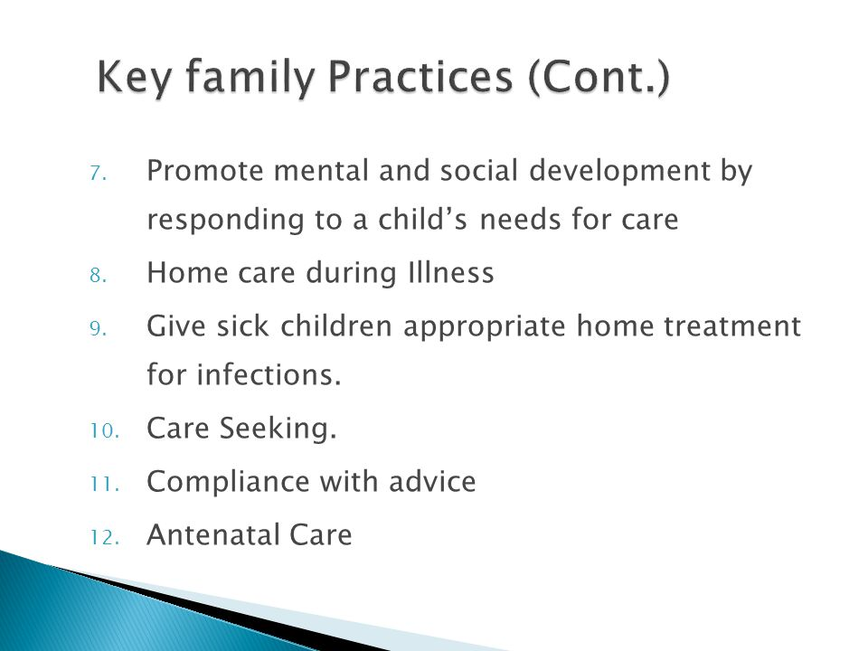Key family Practices (Cont.)