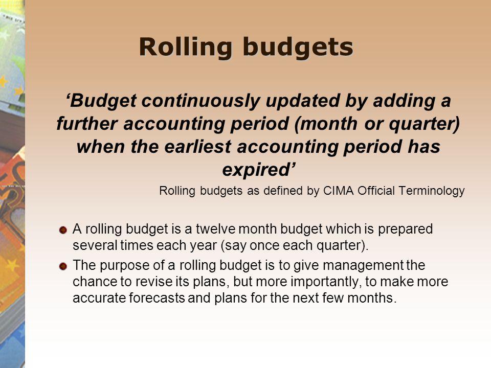 Rolling budgets