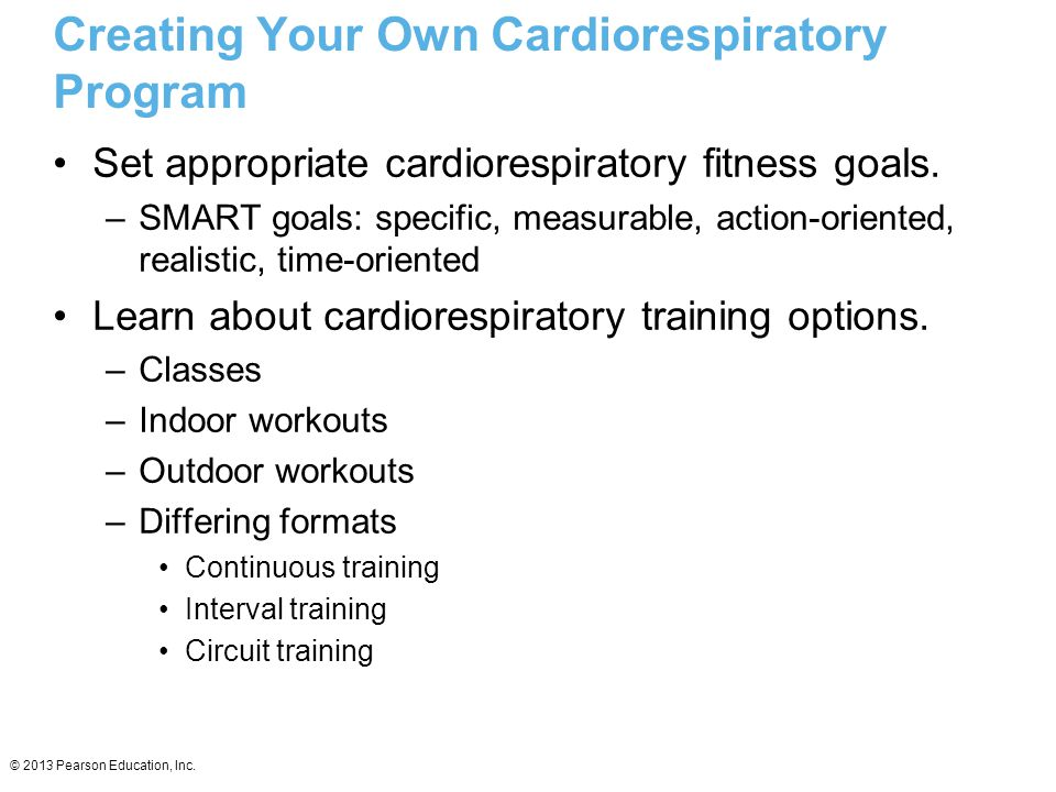 Creating Your Own Cardiorespiratory Program