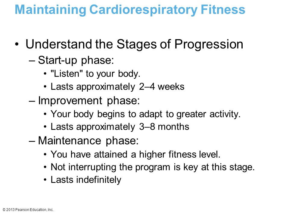 Maintaining Cardiorespiratory Fitness