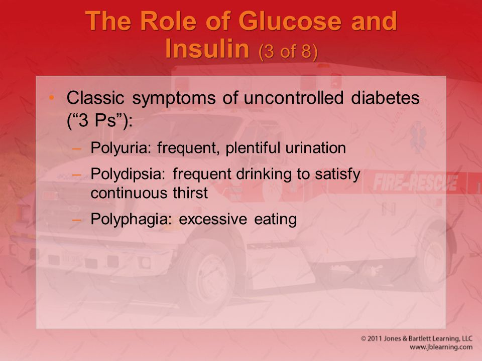 The Role of Glucose and Insulin (3 of 8)