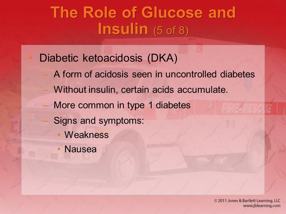 The Role of Glucose and Insulin (5 of 8)