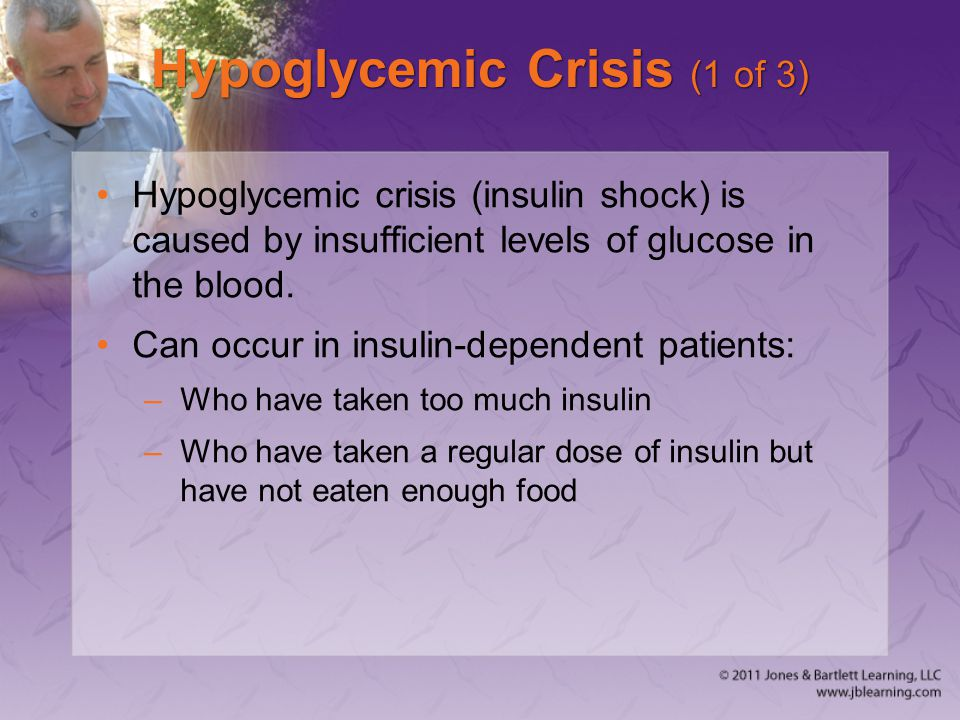 Hypoglycemic Crisis (1 of 3)