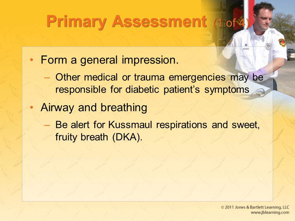 Primary Assessment (1 of 4)