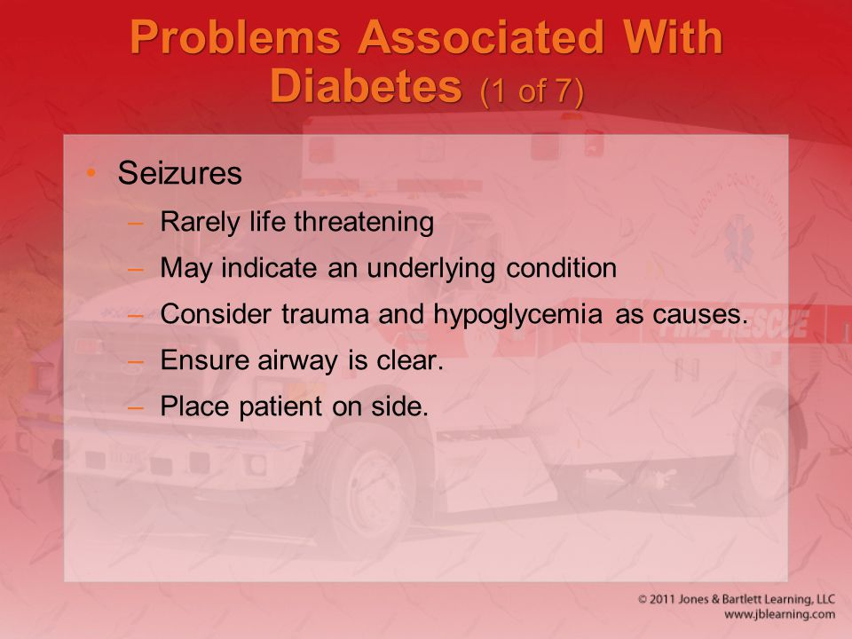 Problems Associated With Diabetes (1 of 7)