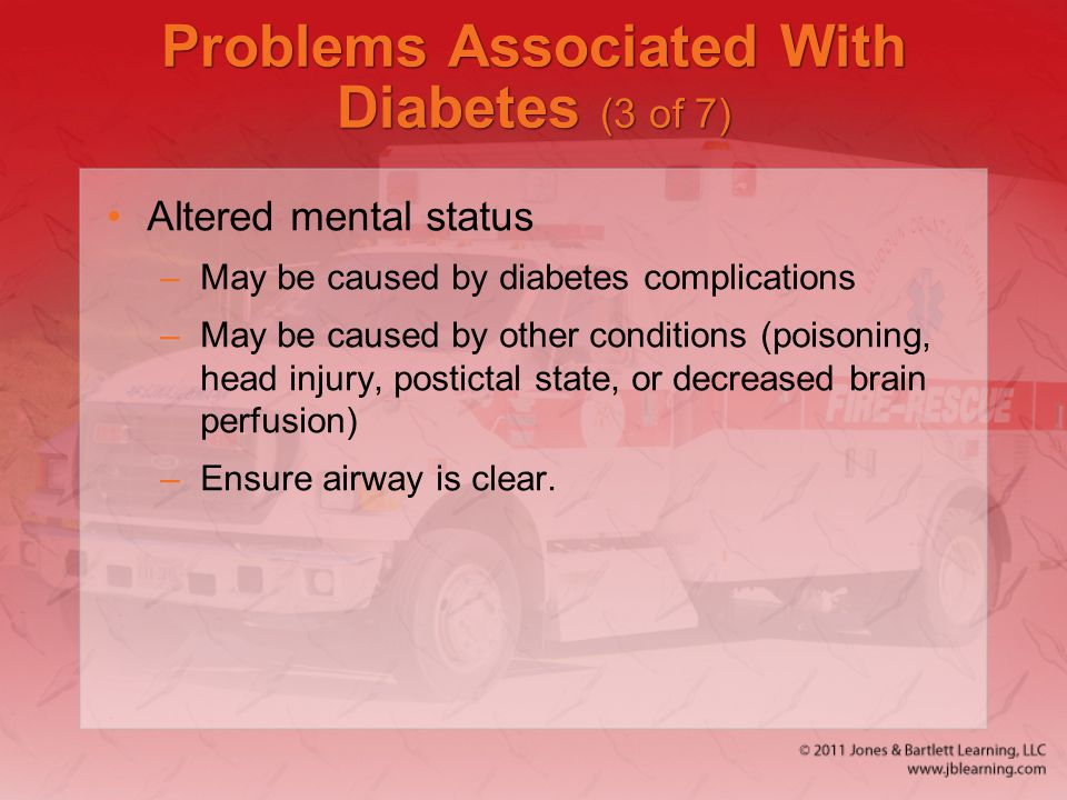 Problems Associated With Diabetes (3 of 7)