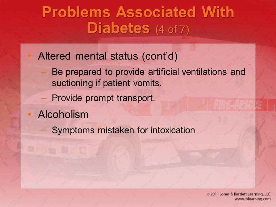 Problems Associated With Diabetes (4 of 7)