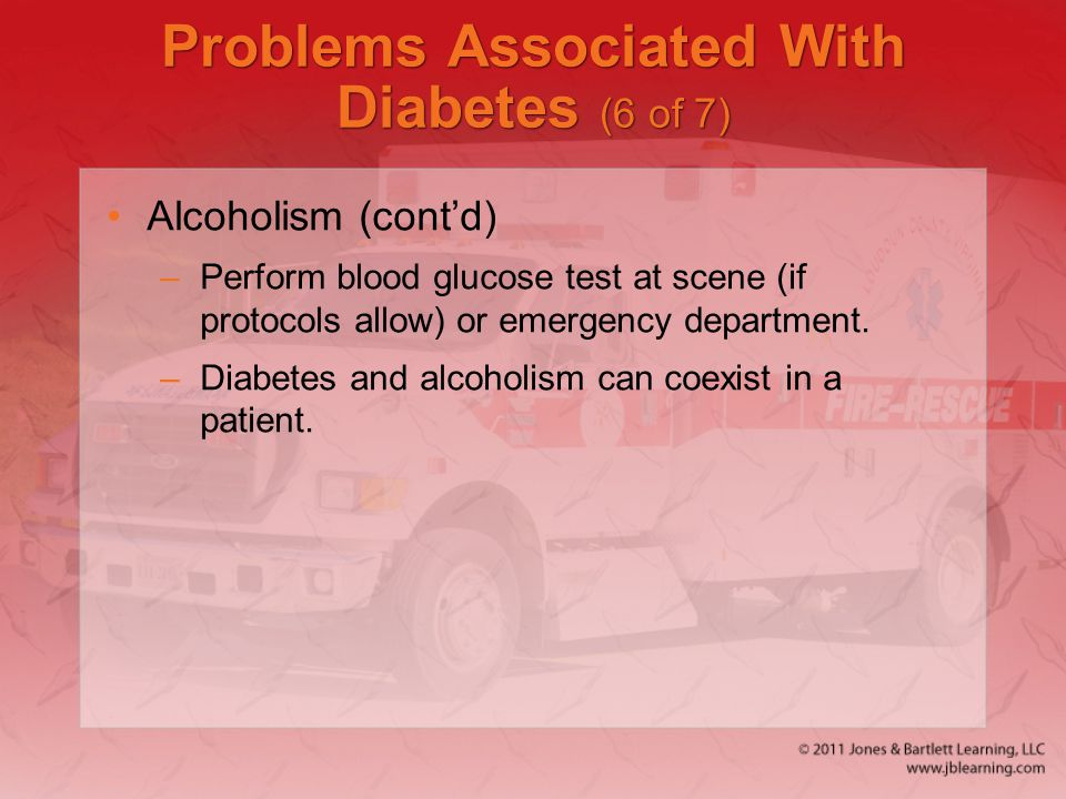 Problems Associated With Diabetes (6 of 7)