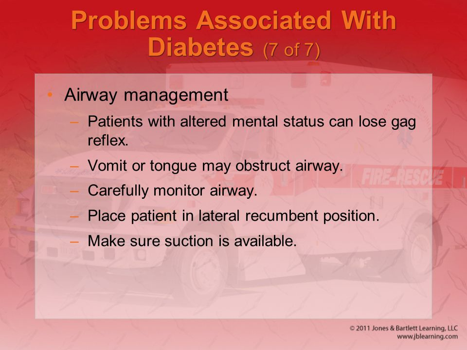 Problems Associated With Diabetes (7 of 7)
