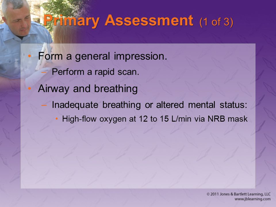 Primary Assessment (1 of 3)